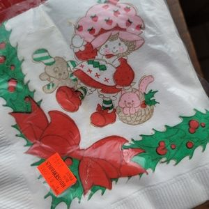 Vintage Strawberry shortcake napkins